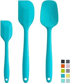 Lot de 3 qualité easy clean silicone cuisson baking spatules idéal pour le mélange