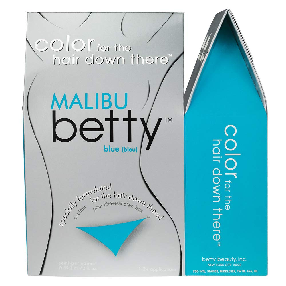 Betty Beauty Malibu (Aqua Blue) Betty - Color for The Hair Down There Hair  Coloring Kit