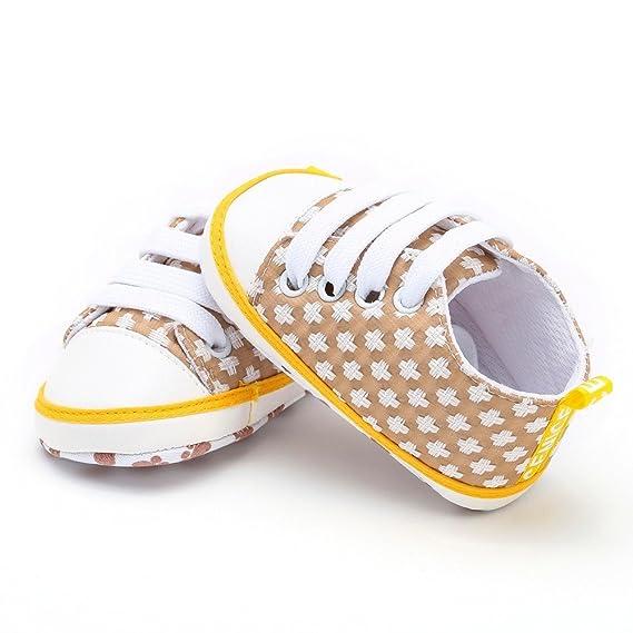 ❤ Zapatos Casuales Primer Paso Recién Nacido niño niñas bebés Geométrica impresión sólida Suela Suave Absolute: Amazon.es: Ropa y accesorios