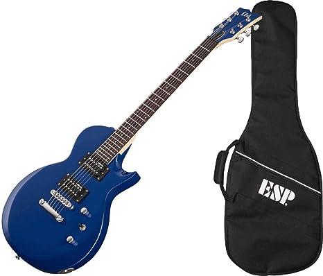 LTD EC-10 Blue Guitarra Eléctrica 6 Cuerdas con Funda, Azul ...
