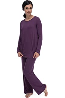 3c9b97744b BambooDreams Haley Crossover Tunic Pajama Set by Yala at Amazon ...