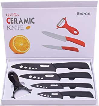 Lifecolor Premium Ceramic 9-Piece Kitchen Knife Set