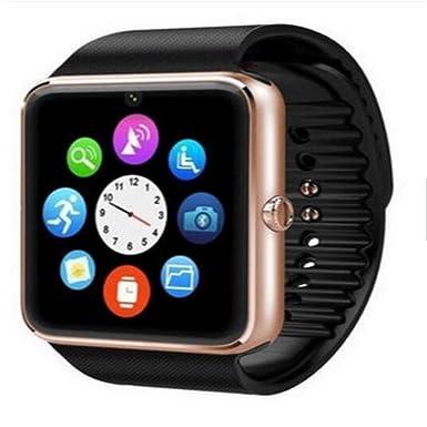 Reloj inteligente, GT08 Bluetooth Reloj inteligente con ranura para tarjeta SIM y NFC Smart salud