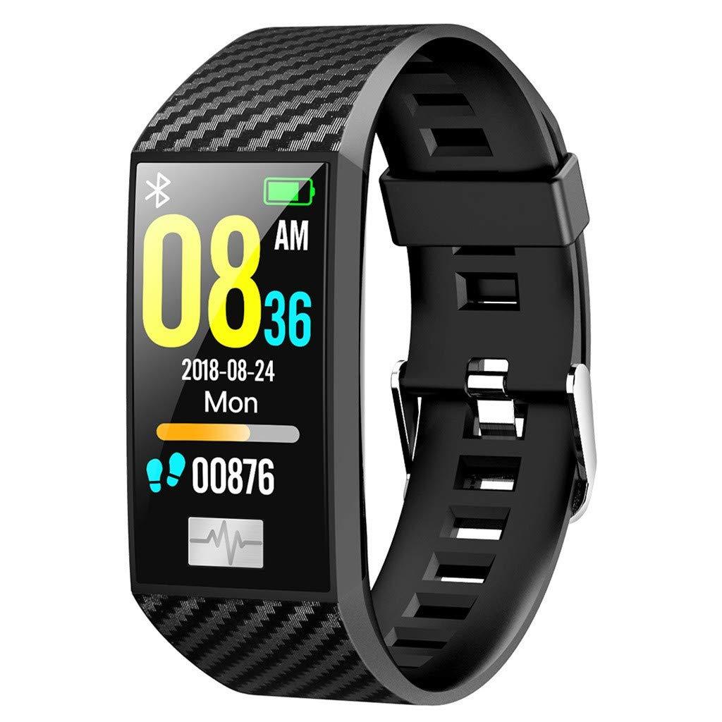 DT58 Bluetooth ECG Smart Watch Fitness Tracker Heart Rate Blood Pressure Monitor Sport Smart Watch Pedometer (Black)