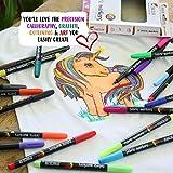Zenacolor 20 Fabric Markers Pens Set - Non