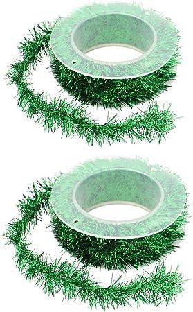 1.5M Wire Garland Tinsel Hang Rattan Christmas Tree Ornament Xmas Ribbon.