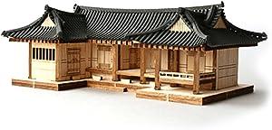 Desktop Wooden Model Kit Tile-roofed house / YG610
