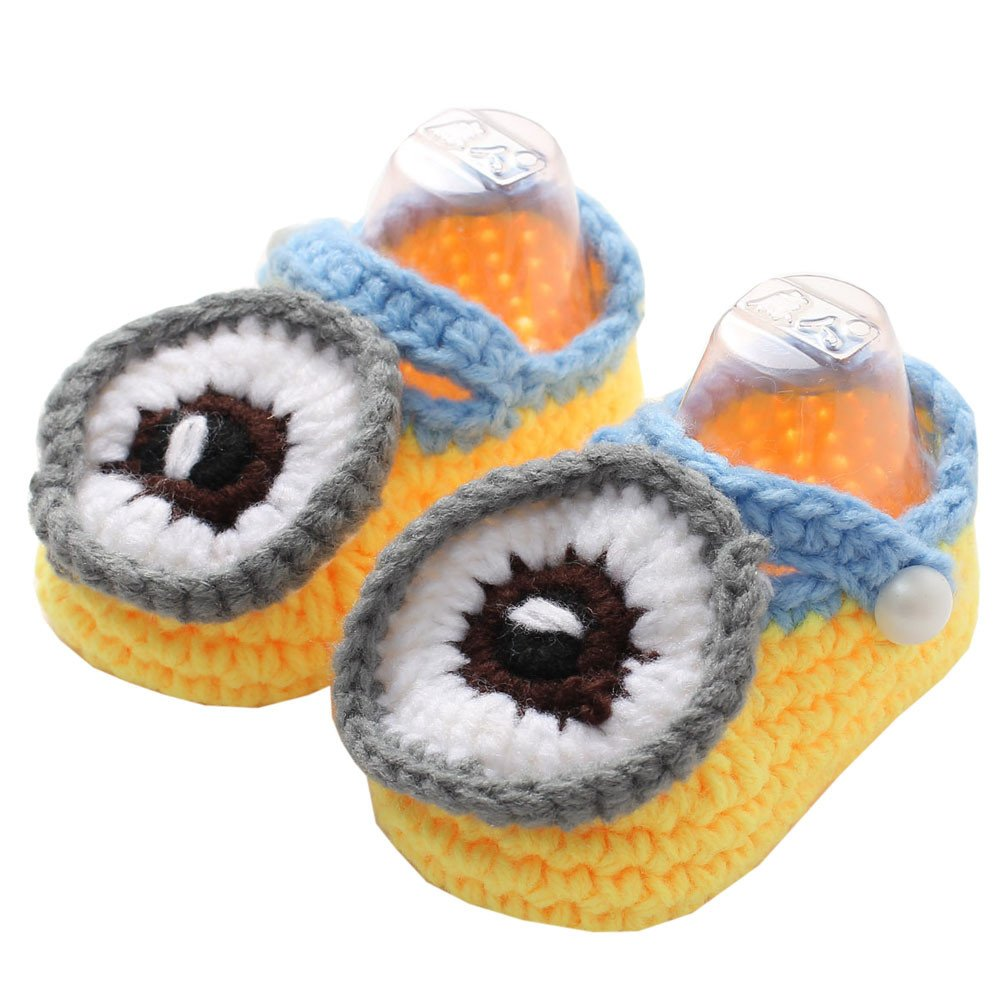 YUE-X Baby Newborn Infant Crochet Knit Socks Booties Crib Casual Shoes