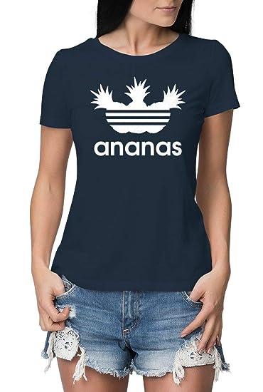 568467ab6a54a6 Damen T-Shirt mit Aufdruck Ananas - ENG ANLIEGENDE Premium Tshirts -  lustiges T Shirt