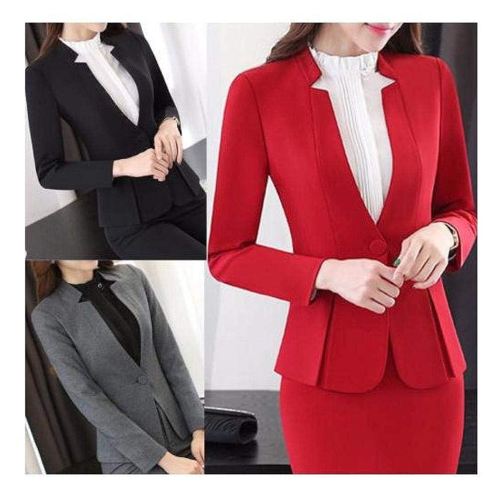 FidgetFidget Womens Blazer Business Office Work Lady Solid Tops Coat Jacket