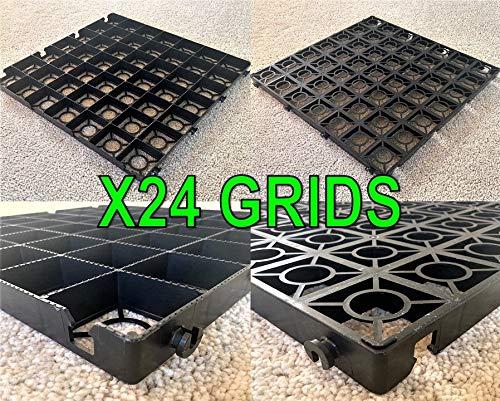 X24 cm Grids hierba Grid (6 metros cuadrados) – plástico ...