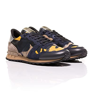 44c82cadbcef Valentino Rockrunner Camouflage-Print Sneakers (5 UK)  Amazon.co.uk ...