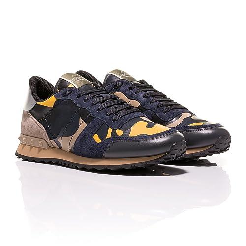 Valentino Zapatillas Para Hombre Amarillo Azul Marino, Color Amarillo, Talla 42 EU: Amazon.es: Zapatos y complementos