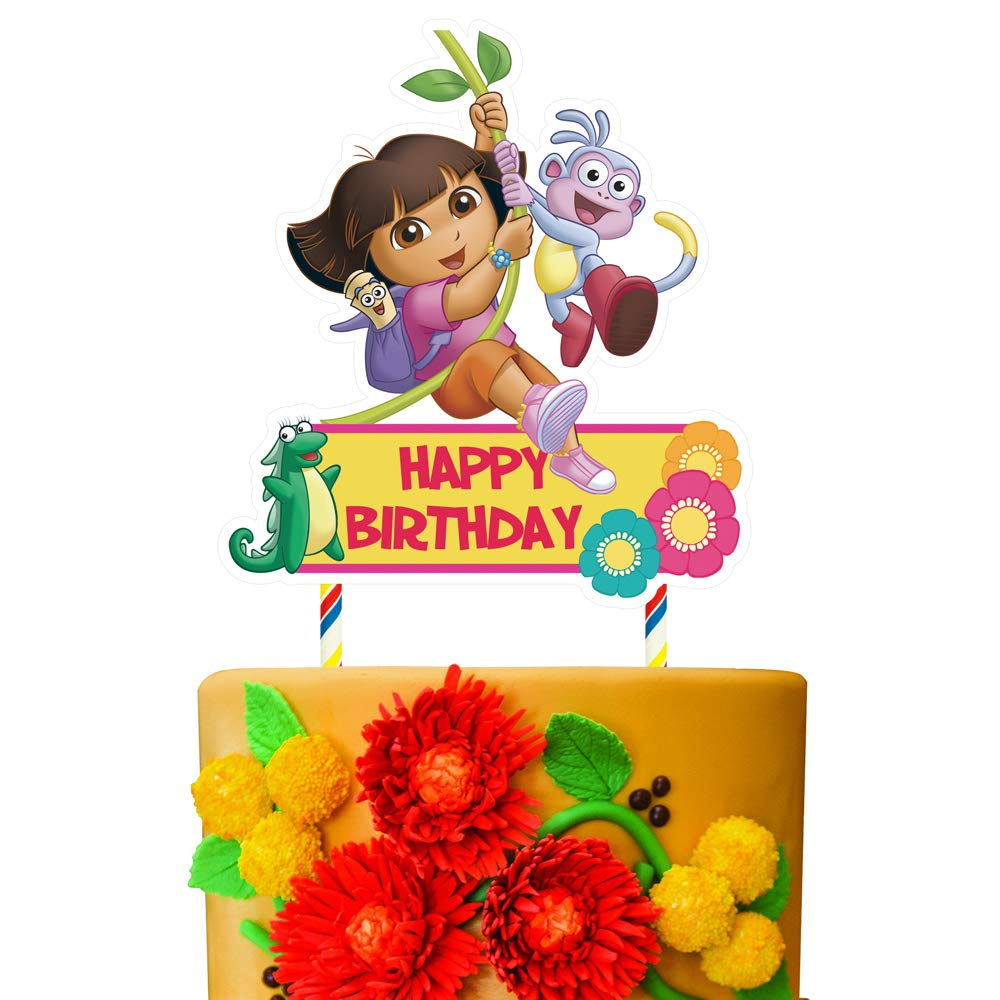 Tremendous 1 Dora Cake Topper Happy Birthday Cake Toppers Cake Decorations Funny Birthday Cards Online Alyptdamsfinfo