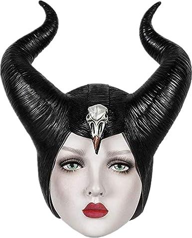Málefica Disfraz Cuernos Maleficent Horns para Mujer Niños La ...