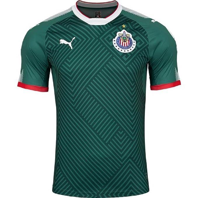 new style 9876c 89a99 PUMA Chivas Alternative Jersey 2017-2018 (2XL) Green: Amazon ...