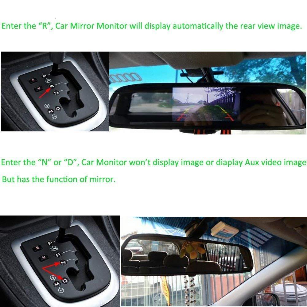 Telecamera di backup senza fili Podofo/® con monitor da 4,3 TFT LCD Retrovisione Visione notturna della fotocamera Reverse Camera