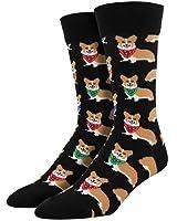 "Socksmith Mens' Novelty Crew Socks ""Corgi"" - 1 pair"