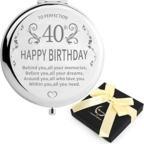 Amazon Com 40th Birthday Gifts For Women 1980 Sunnyplus Best Birthday Gift Ideas For Wife Personalized 30 40 50 60years Old Unigue Present For Sister 1990 1970 1960