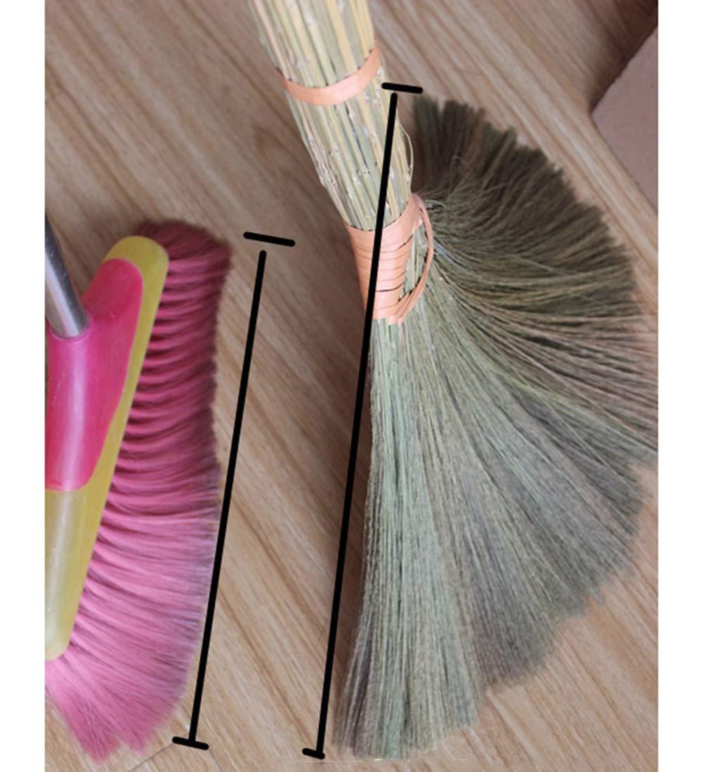 YUDEYU Fil Souple Balai Naturel Plante Paille Pas Facile De Coller Les Cheveux T/ête De Brosse Douce Ne Pas Blesser Le Sol Color : 1 pcs