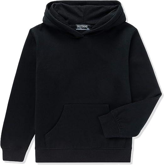 3-12 Years DOTDOG Unisex Kids Soft Brushed Fleece Pullover Hooded Sweatshirt Classic Casual Hoodie for Boys or Girls