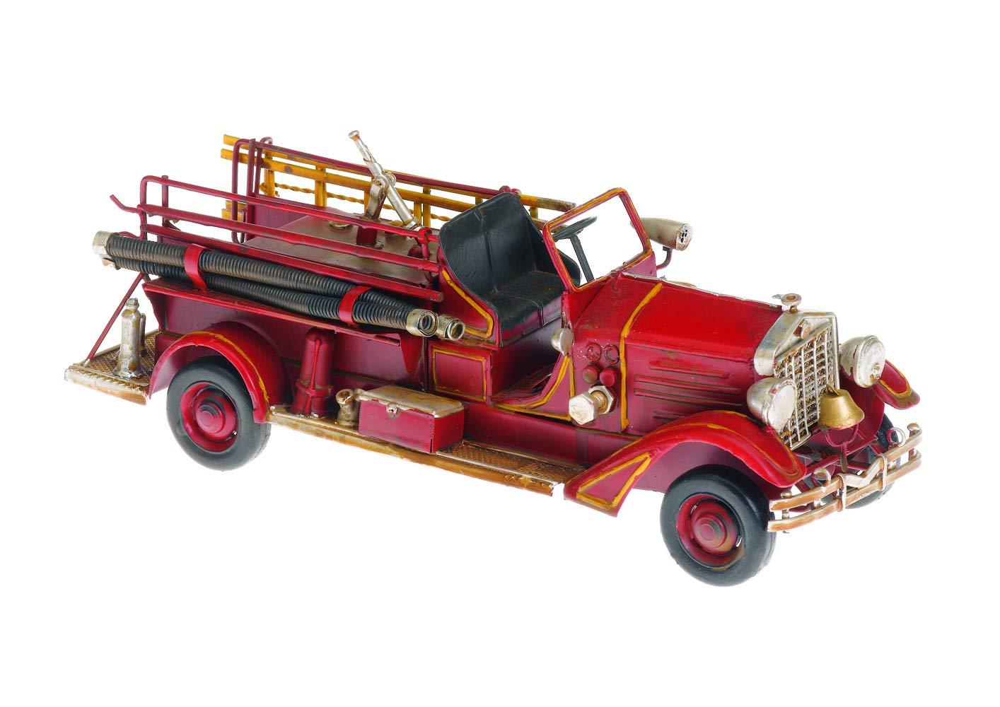 Pamer-Toys Modellino Macchina di Latta in Stile Antico-Retro-Vintage 25-35 cm Lunghezza ca Trattore, Verde