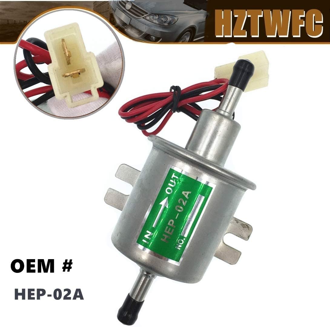 HZTWFC Bomba de transferencia de combustible 12 voltios, baja presión, diesel, gasolina, gas, combustible eléctrico, bomba de combustible, 12V OEM # HEP-02A HEP02A