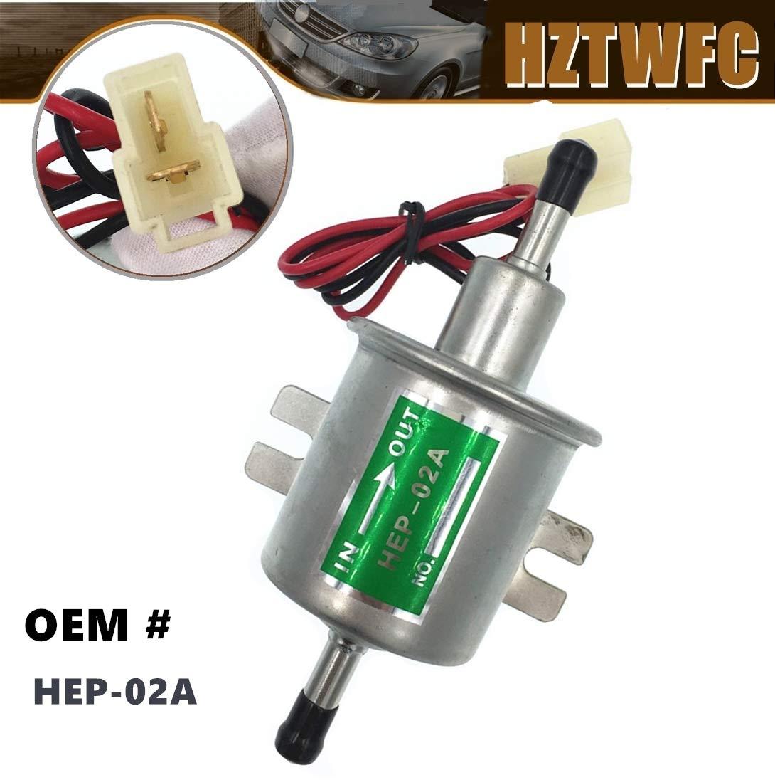 HZTWFC Fuel Transfer Pump 12 Volt Low Pressure Diesel Petrol Gas Electric Fuel Pump 12V HEP-02A HEP02A Compatible for YANMAR