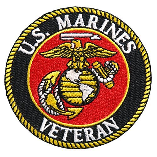 - Hot Leathers, USMC VETERAN MILITARY, High Thread Iron-On / Saw-On Rayon PATCH - 3
