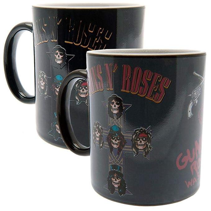 Amazon.com: Guns N Roses - Taza de cerámica con cambio de ...