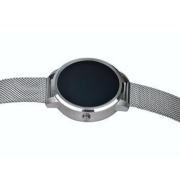 Reloj de pulsera LED V-360 instantánea mensaje recordatorio – Plata Blanco Inteligente Reloj Soporte