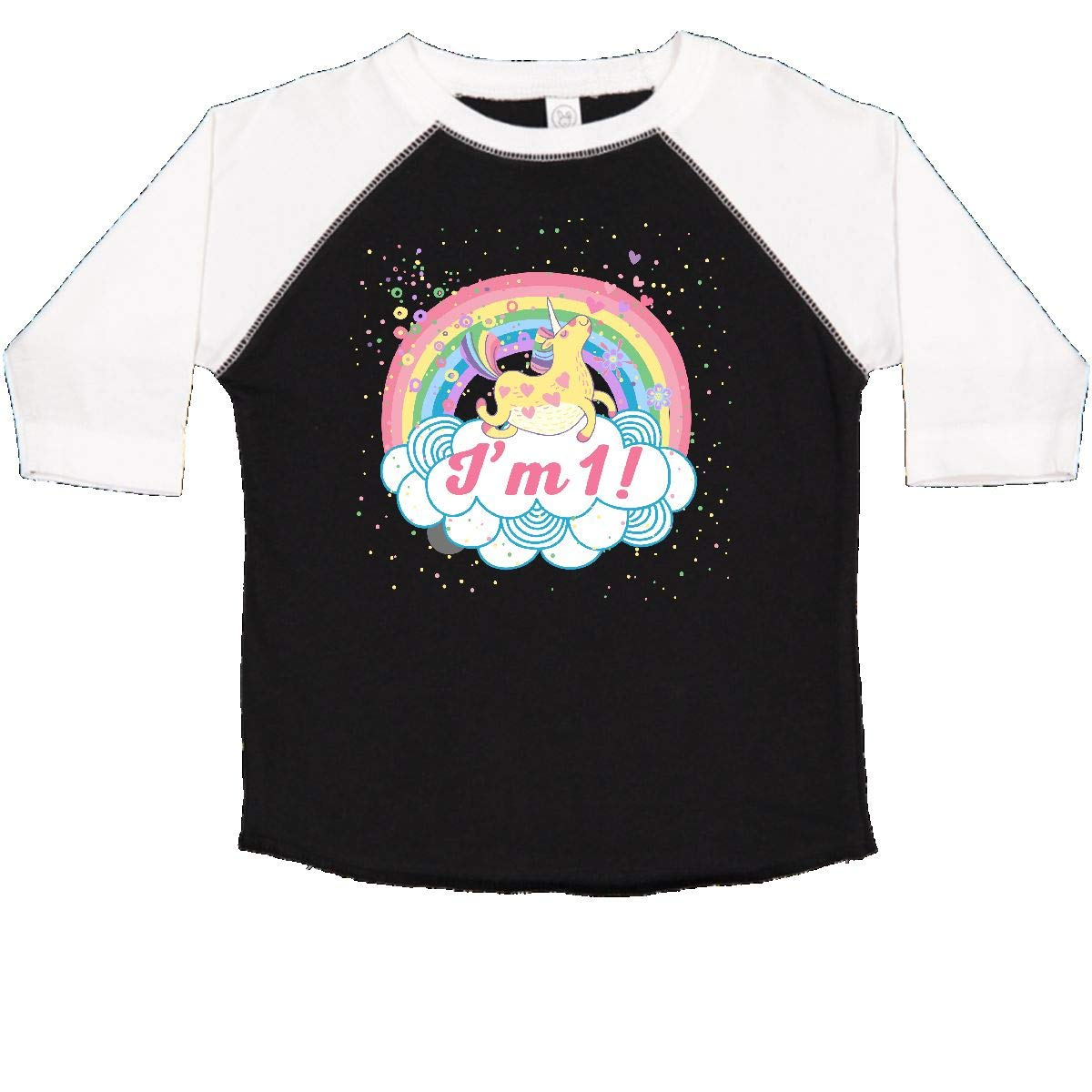 inktastic 1st Birthday Unicorn Rainbow Girls Toddler T-Shirt