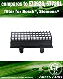 Filtre hygiénique haute performance pour les aspirateurs Bosch et Siemens Relaxx'x Pro Silence (alternative à 00577281, 00573928). Produit authentique de Green Label