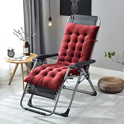 HMWPB Rocking Chair Cushions, Lounge Chair Cushions Thicken Lengthen Folding Wicker Chair Pads Patio Furniture Overstuffed Bench Cushion-red Wine 130x50x10cm(51x20x4inch): Kitchen & Dining
