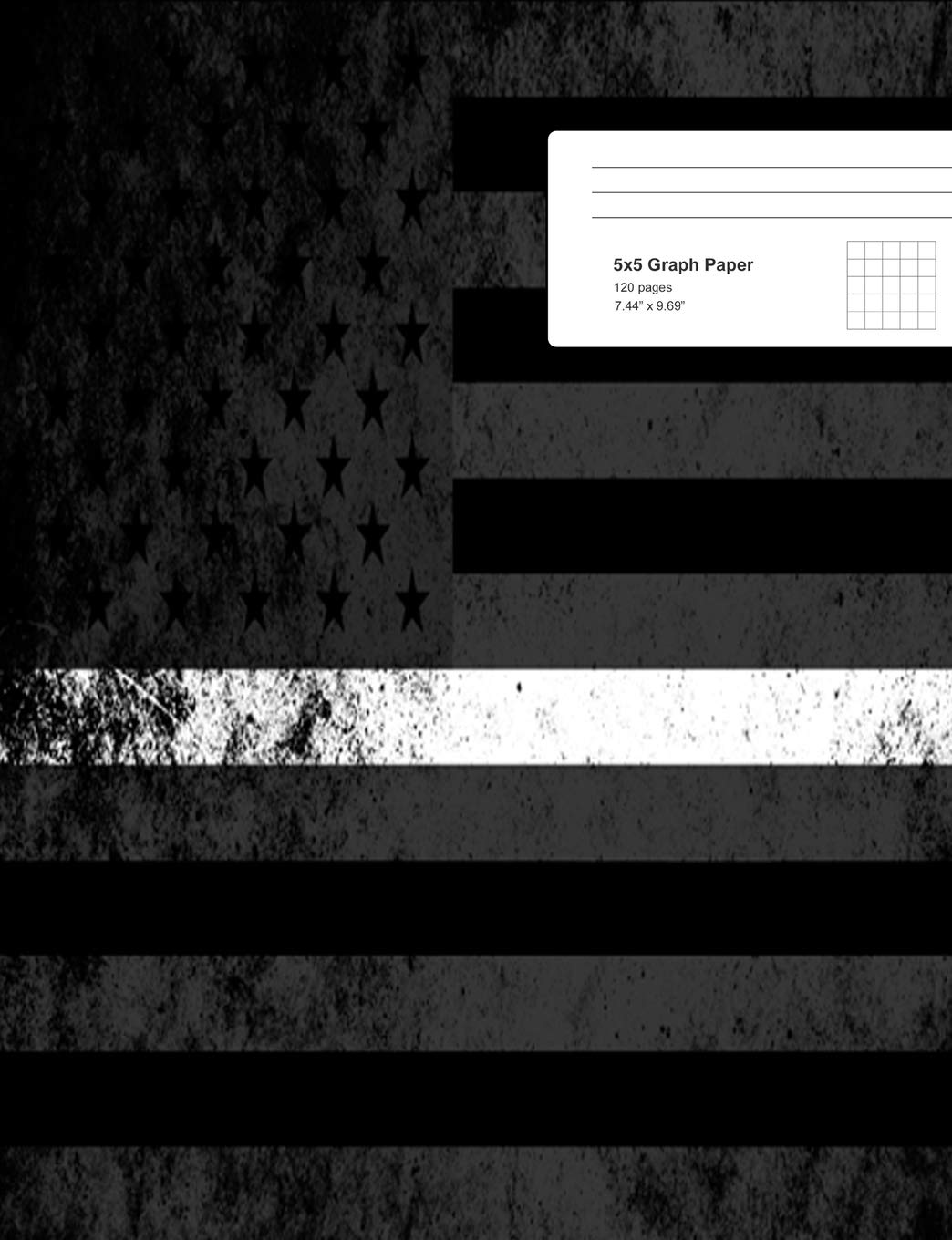 Thin White Line Composition Notebook: Thin White Line Composition Book, EMS Notebook, EMT Journal, Thin White Line Notebook, 7.44
