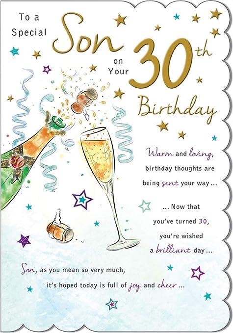 Increíble tarjeta de felicitación de alta gama, para el 30 ...