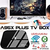 Android 8.1 TV Box, TV A95X Plus Top Box 4G / 32G S905 Y2 Network Player Gigabit Bluetooth con Telecomando Smart WiFi TV Box Tablet Media Player