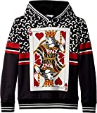 Dolce & Gabbana Kids Boy's King Of hearts Hooded Sweatshirt (Big Kids) Black 10
