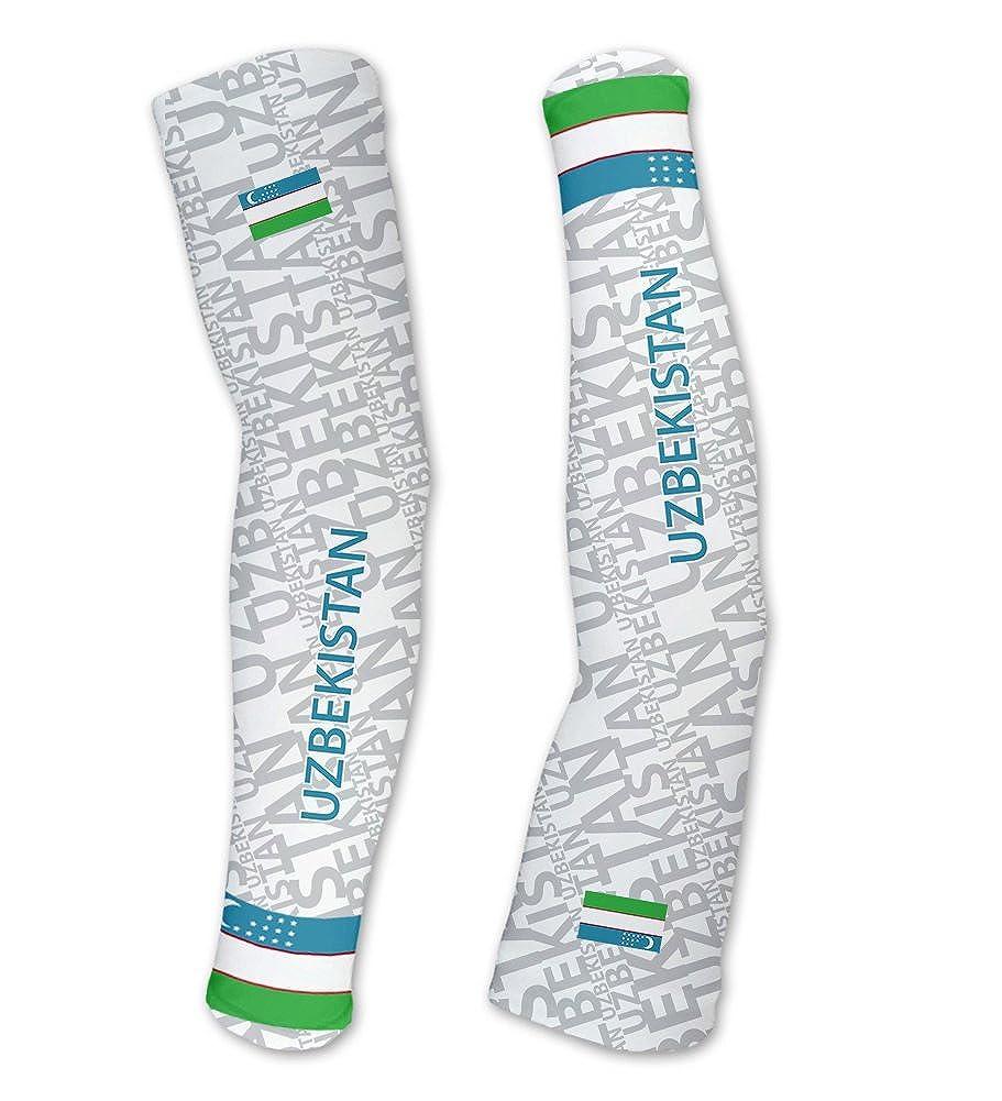 ウズベキスタンScudoPro Compression Arm Sleeves UV保護ユニセックス – Walking – サイクリング – Running – ゴルフ – 野球 – バスケットボール 5L  B01BLUM9X8