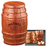 Jack Daniel's Real Wooden Barrel Puzzle 9pc (Jack Daniel's Tennessee Whiskey Bottle), Gift Boxed, Exclusive Product