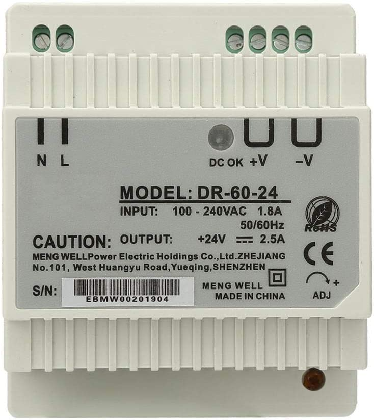 Switching Power Supply-DR-60-24 60W Single Output 24V Din-Rail Power Supply AC//DC Switching Power Supply
