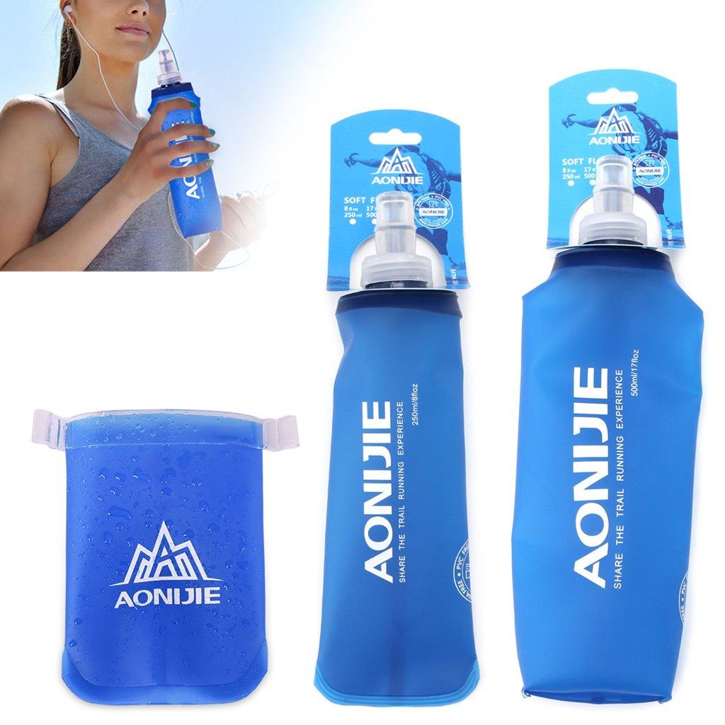 LLLucky 170ml Outdoor Faltbare Weiche Flasche Squeeze Sports Faltbare Wasserflasche Running Hydration Kettle