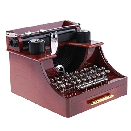 IPOTCH Máquina De Escribir Y Proyector De Películas Caja De Música Diseñada Artes Mecánicas Regalo De Navidad: Amazon.es: Hogar