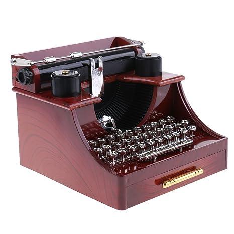 MagiDeal Caja de Música Juguetes de Niños Adornos de Escriotorio Mesa de Casa Oficina - Máquina