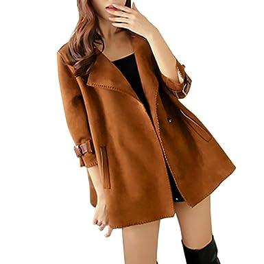 VEMOW Mode Elegant Damen Herbst Winter Windjacke Mantel Tops Oberbekleidung Casual Daily Outdoors Lose Solide Mantel