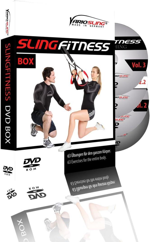 Variosling® Paquete/Set/Kit de DVDs de Ejercicios para Entrenamientos en Suspensión/Sling-Trainer – vídeo   Slingfitness Vol. 1-4 – más Que 60 ...
