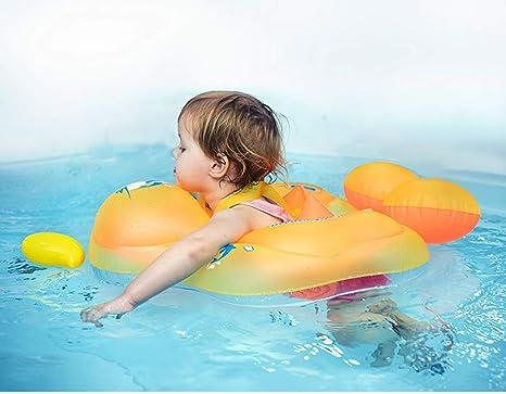 Flotador de Natación para Bebés con Asiento Anillo,Bebé Recién ...