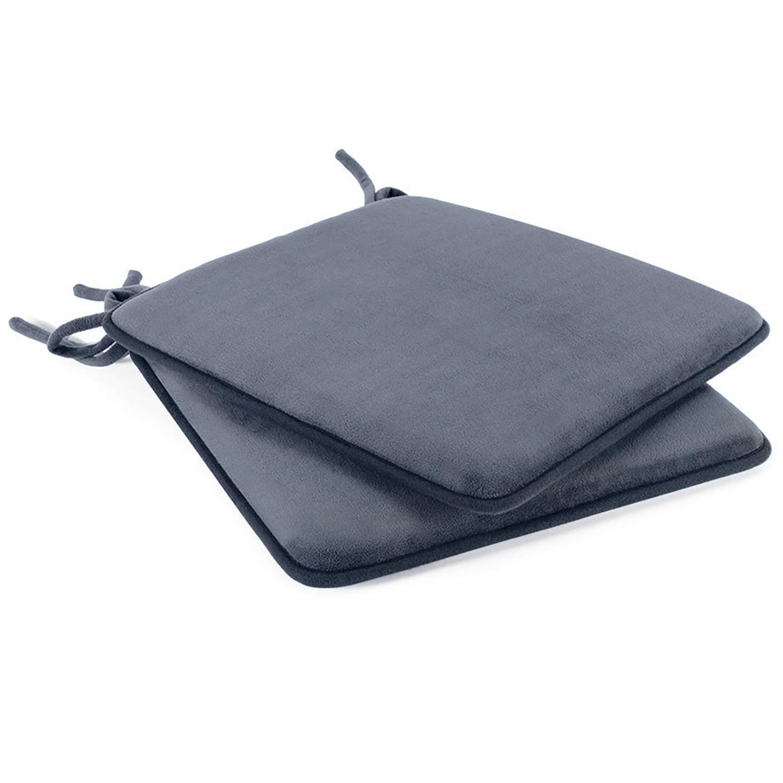 Dining Chair Pads 2 Pack Non Slip Memory Foam Kitchen Chair Cushions Pads With Ties And Gripper Backing By Shinnwa 16 Square Velvet Gray Buy Online In Bahamas At Bahamas Desertcart Com Productid 67119671