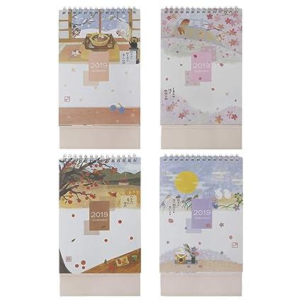 Senoow - Calendario de escritorio estilo japonés 2019 ...