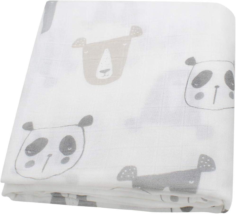 Nido Felice mussola bamboo 120x120 cm Made in UE copertina neonato grande panno extra morbido multiuso assorbente asciugamani anallergico traspirante Neutre - Maschietto /& Femminuccia
